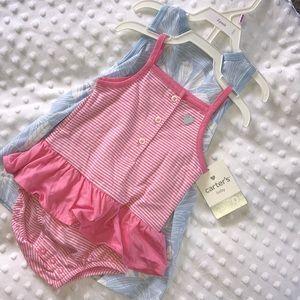 dress & ruffled bodysuit NWT